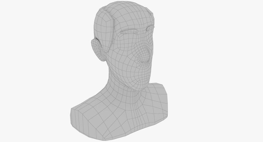Coiffures Polygonales royalty-free 3d model - Preview no. 12