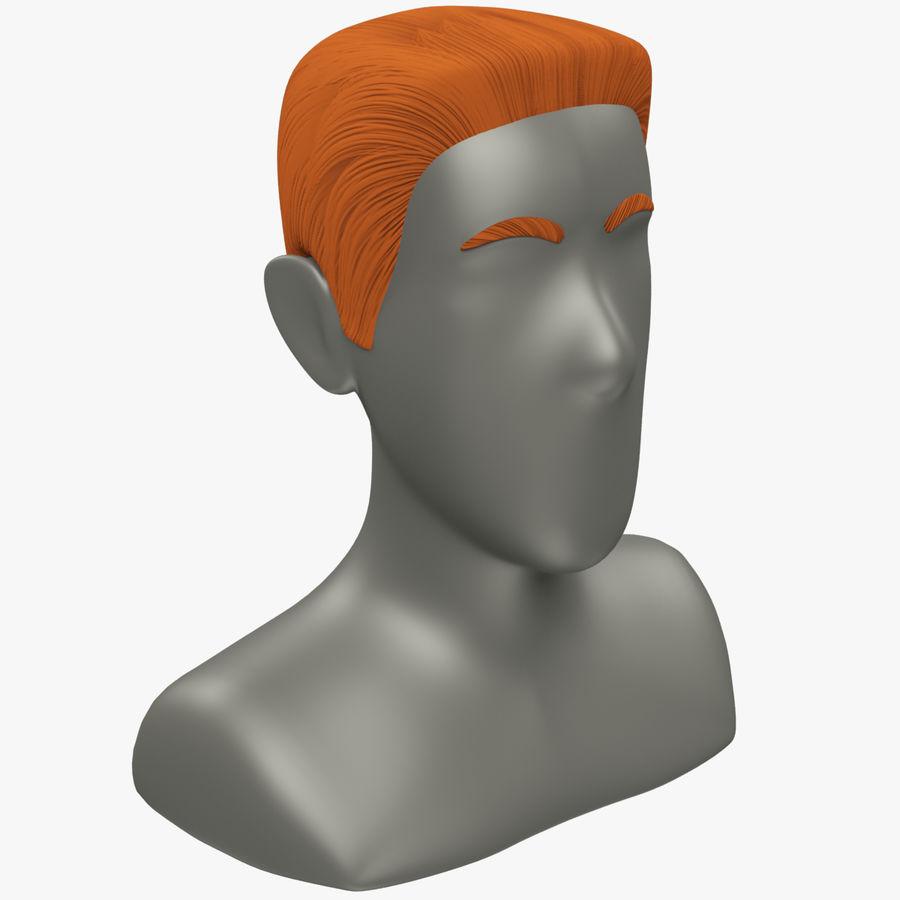 Coiffures Polygonales royalty-free 3d model - Preview no. 17