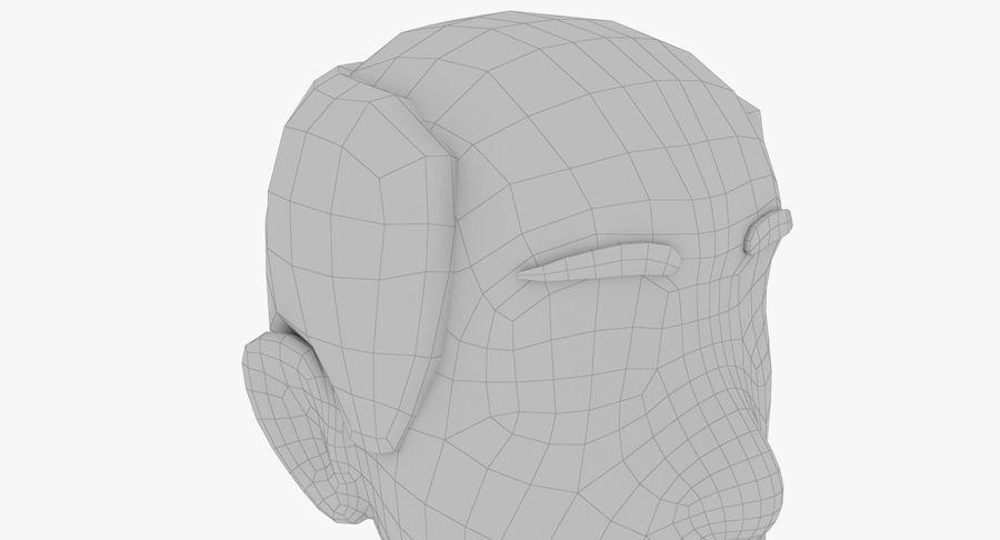 Coiffures Polygonales royalty-free 3d model - Preview no. 15