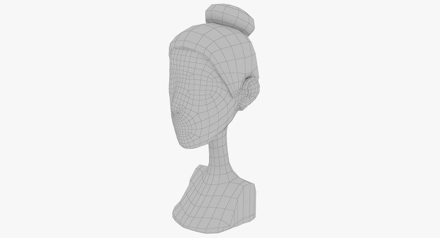 Coiffures Polygonales royalty-free 3d model - Preview no. 40