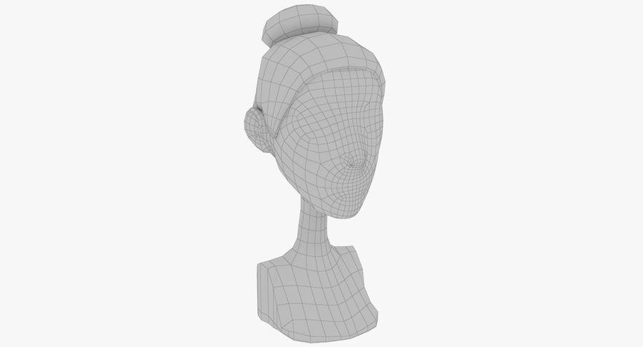 Coiffures Polygonales royalty-free 3d model - Preview no. 39