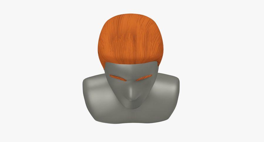 Coiffures Polygonales royalty-free 3d model - Preview no. 25