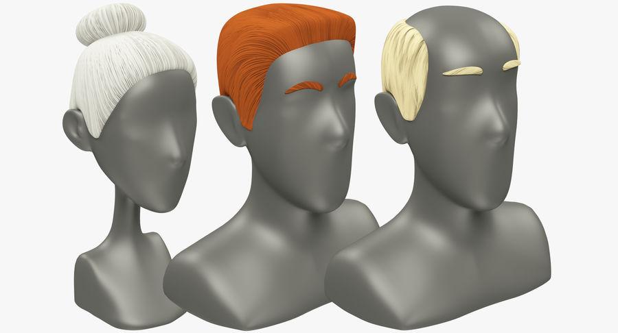 Coiffures Polygonales royalty-free 3d model - Preview no. 2