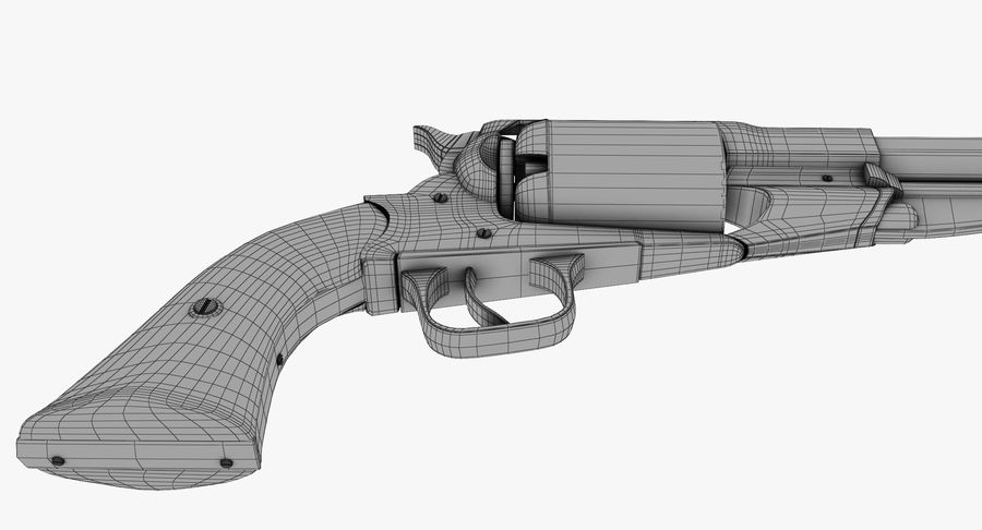 Revington Navy Revolver Model 1863 royalty-free 3d model - Preview no. 13