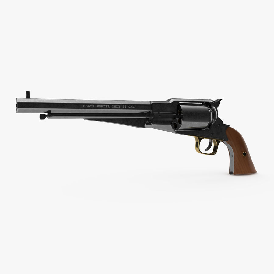 Revington Navy Revolver Model 1863 royalty-free 3d model - Preview no. 1
