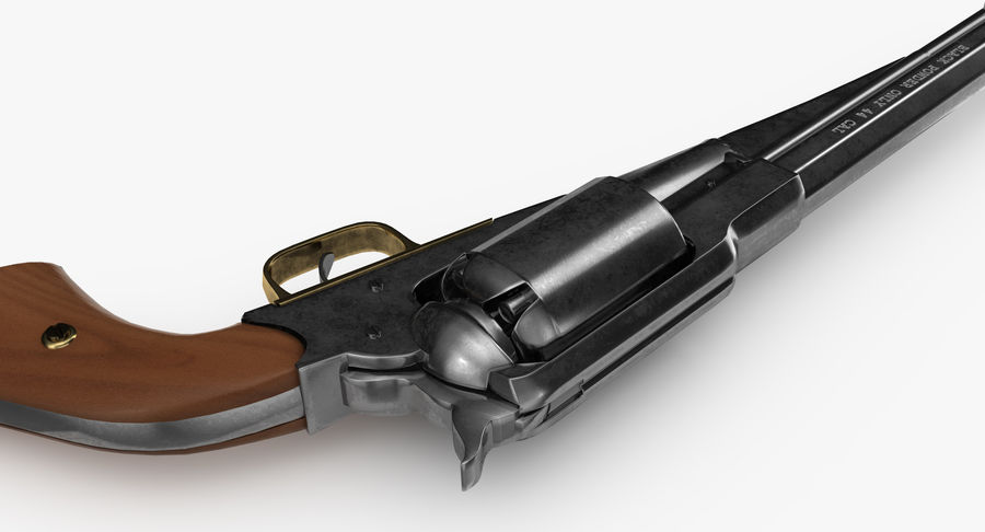 Revington Navy Revolver Model 1863 royalty-free 3d model - Preview no. 7