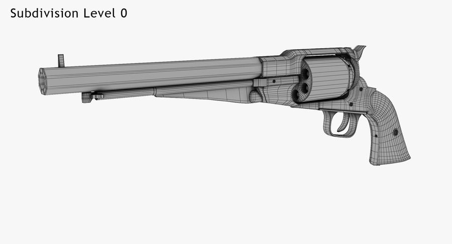 Revington Navy Revolver Model 1863 royalty-free 3d model - Preview no. 9