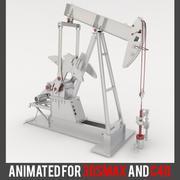 アニメーションオイルポンプジャック 3d model
