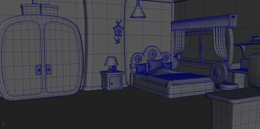 Çizgi film çocuk odası iç royalty-free 3d model - Preview no. 4