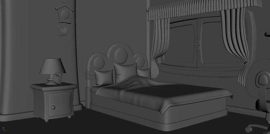 Çizgi film çocuk odası iç royalty-free 3d model - Preview no. 15