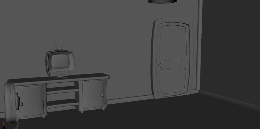 Çizgi film çocuk odası iç royalty-free 3d model - Preview no. 19
