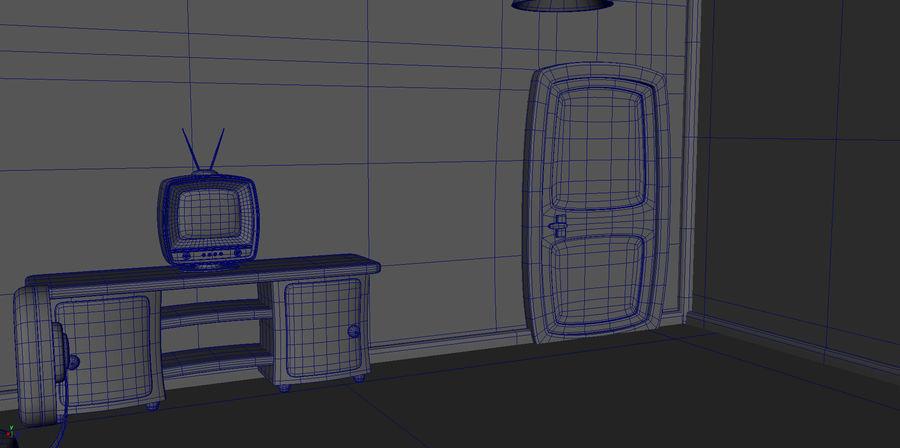 Çizgi film çocuk odası iç royalty-free 3d model - Preview no. 20
