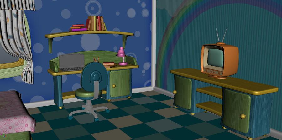 Çizgi film çocuk odası iç royalty-free 3d model - Preview no. 5