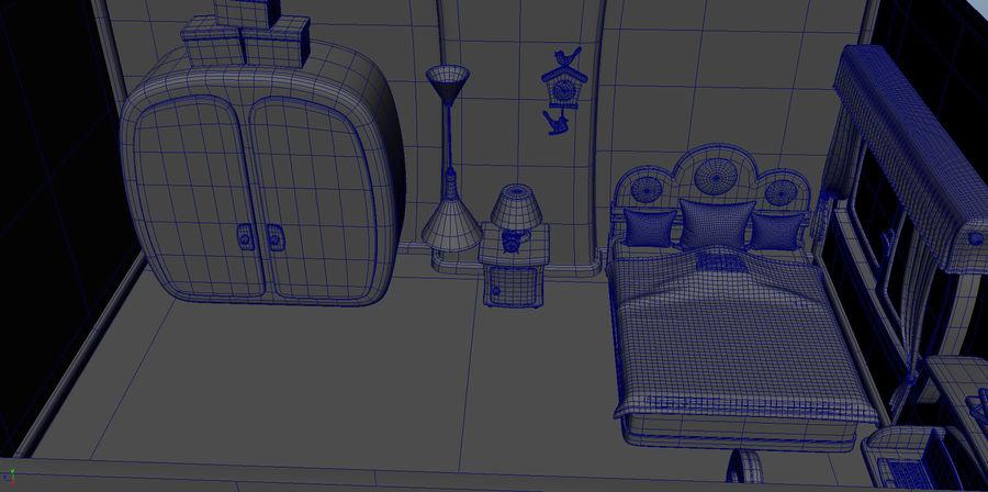 Çizgi film çocuk odası iç royalty-free 3d model - Preview no. 12