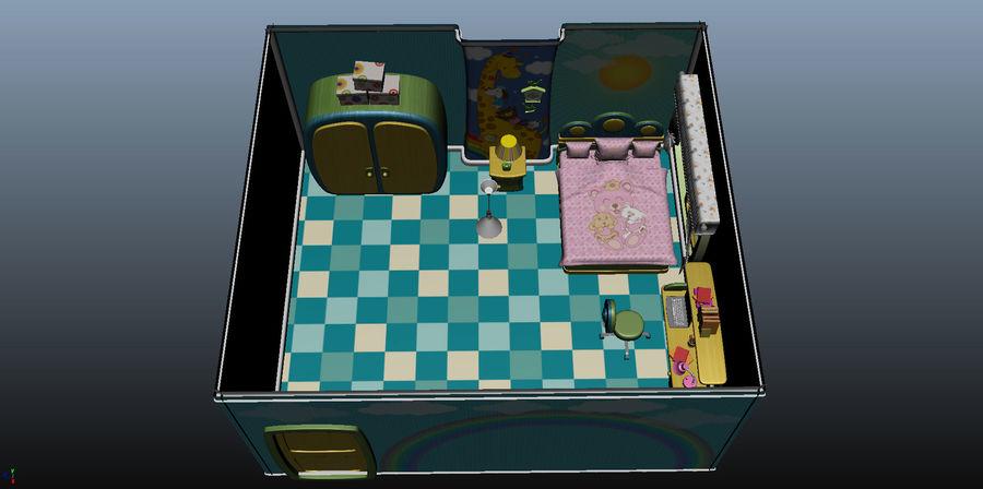 Çizgi film çocuk odası iç royalty-free 3d model - Preview no. 21