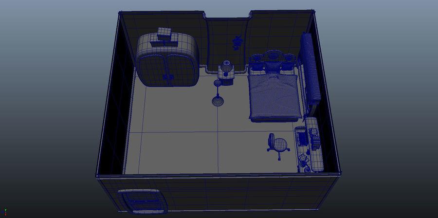 Çizgi film çocuk odası iç royalty-free 3d model - Preview no. 24