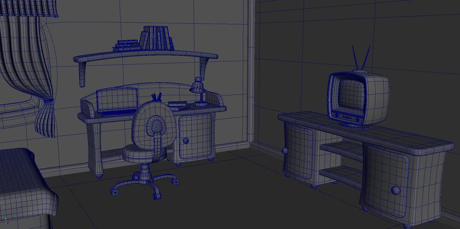 Çizgi film çocuk odası iç royalty-free 3d model - Preview no. 8