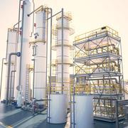 小規模工業用製油所 3d model