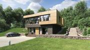HiTech hill house 3d model