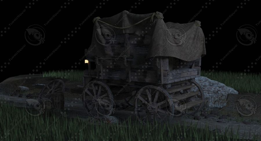 Wagon royalty-free 3d model - Preview no. 4
