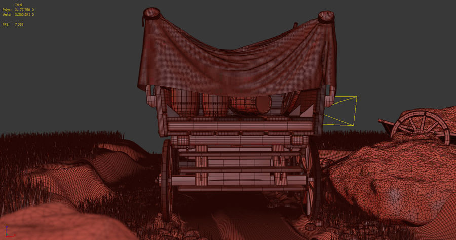 Wagon royalty-free 3d model - Preview no. 20