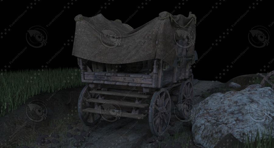 Wagon royalty-free 3d model - Preview no. 7
