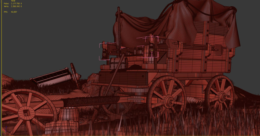 Wagon royalty-free 3d model - Preview no. 17