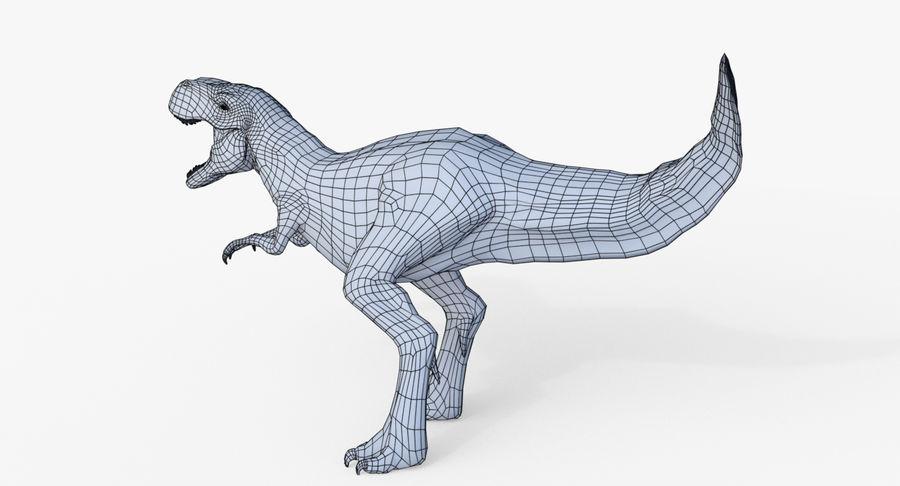 Raptor T-Rex Hybrid Dinosaur royalty-free 3d model - Preview no. 11