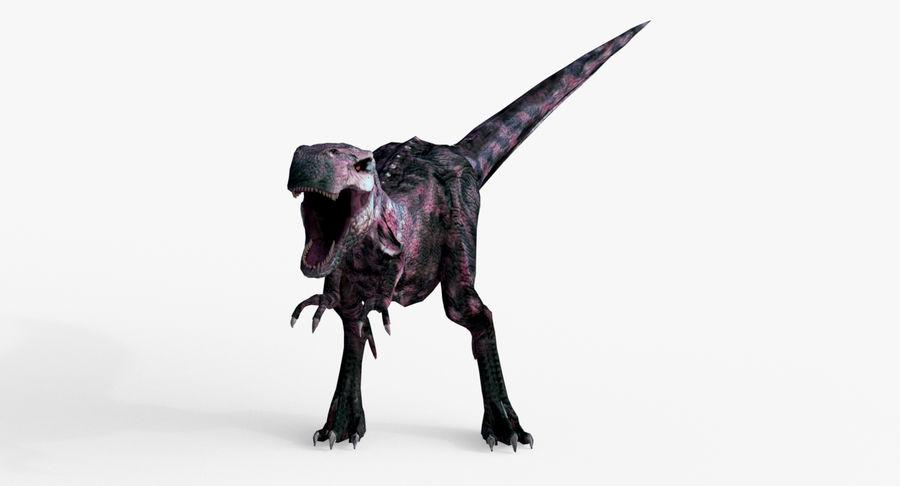 Raptor T-Rex Hybrid Dinosaur royalty-free 3d model - Preview no. 9