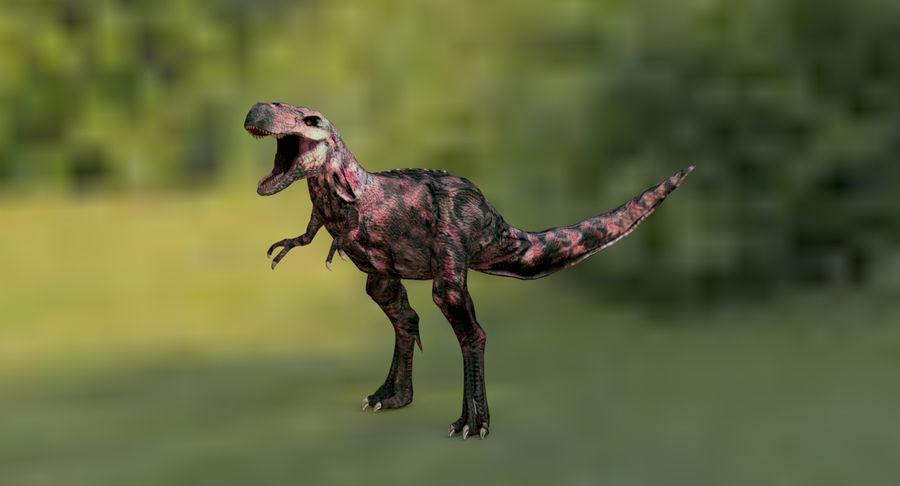Raptor T-Rex Hybrid Dinosaur royalty-free 3d model - Preview no. 8