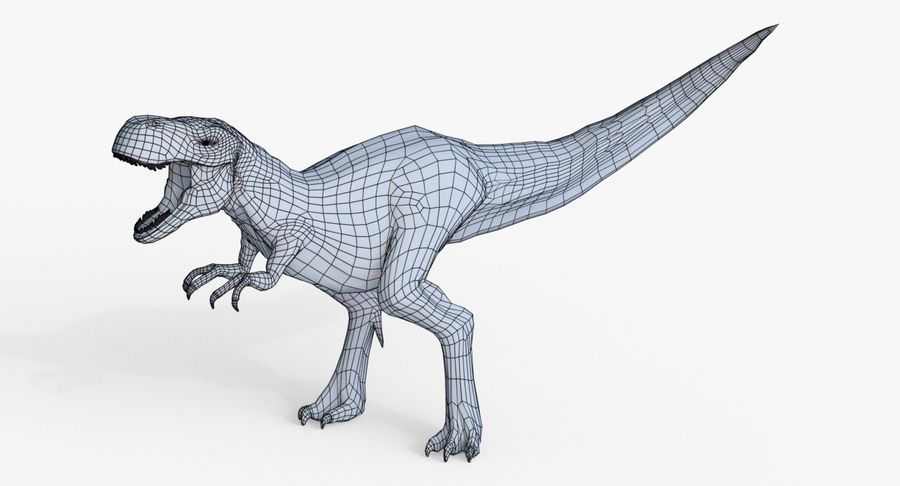 Raptor T-Rex Hybrid Dinosaur royalty-free 3d model - Preview no. 10