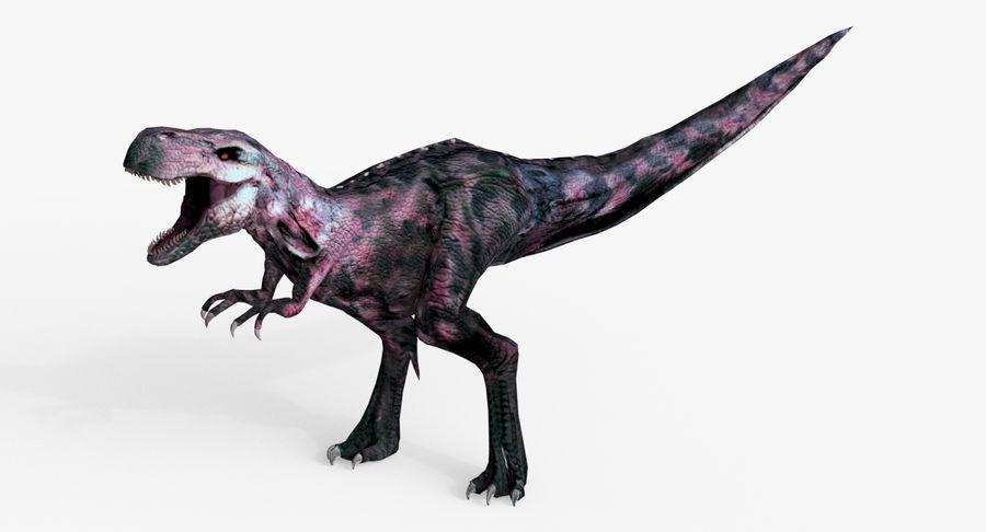 Raptor T-Rex Hybrid Dinosaur royalty-free 3d model - Preview no. 3