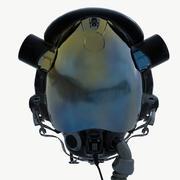 파일럿 헬멧 하이 3d model