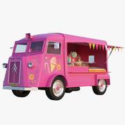 Süßigkeiten Und Eiswagen 3d model