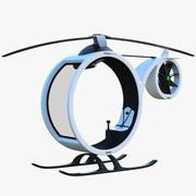 Cartoon Copter 3d model