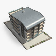 곡선 지붕 아파트 3d model