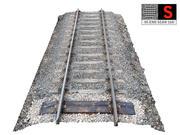 Railroad Tracks 16K 3d model