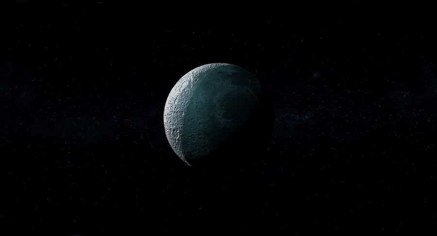 Moon Photorealistic 8K royalty-free 3d model - Preview no. 15