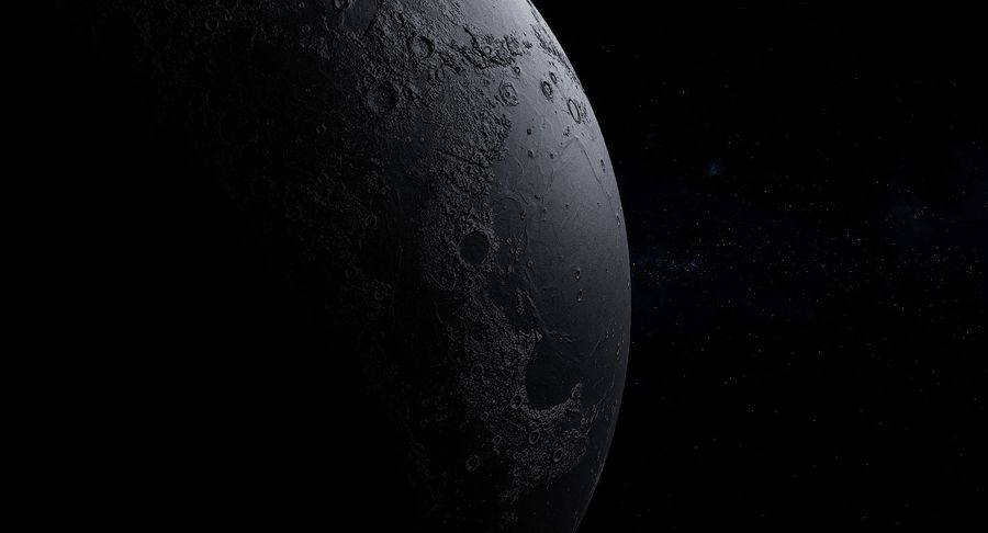 Moon Photorealistic 8K royalty-free 3d model - Preview no. 12