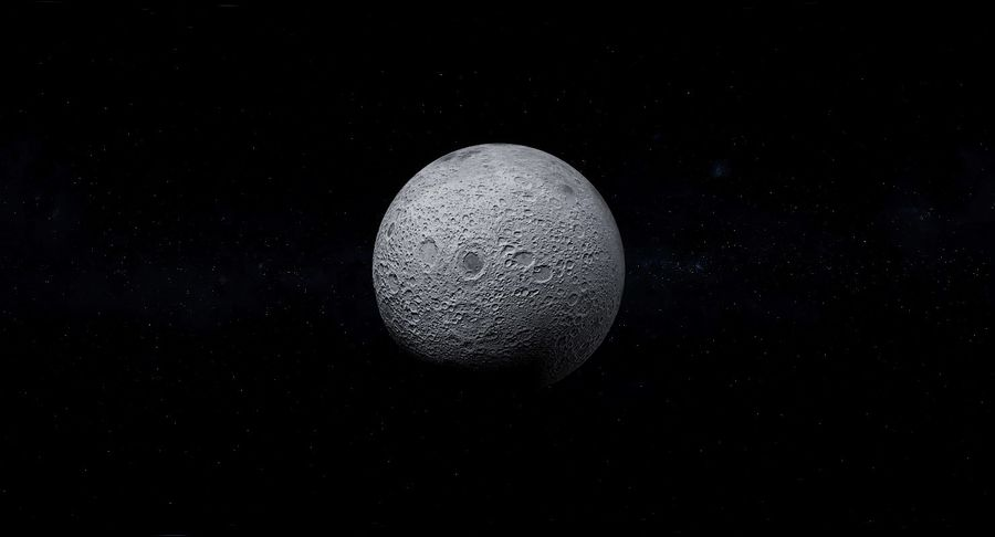 Moon Photorealistic 8K royalty-free 3d model - Preview no. 14