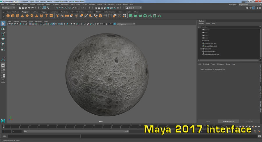 Moon Photorealistic 8K royalty-free 3d model - Preview no. 19