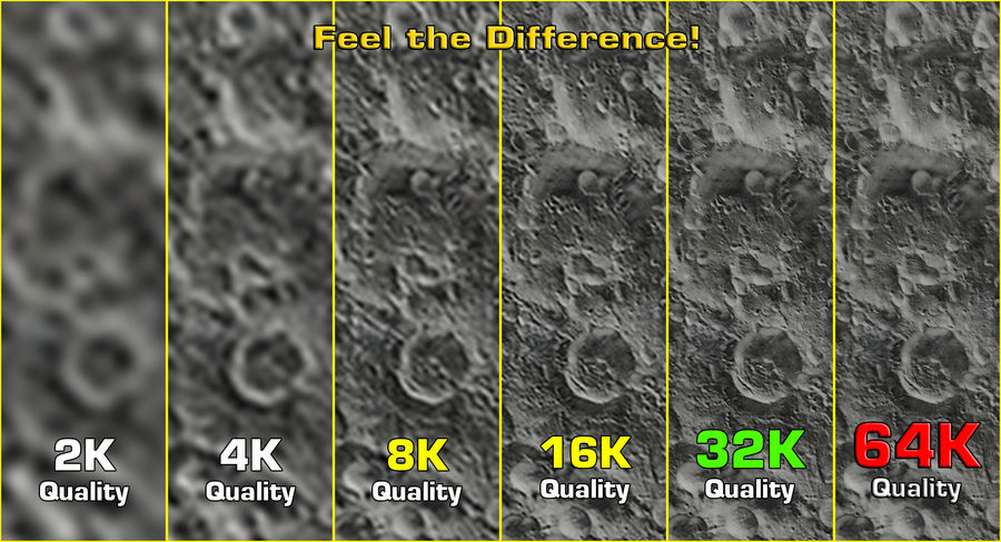 Moon Photorealistic 8K royalty-free 3d model - Preview no. 7
