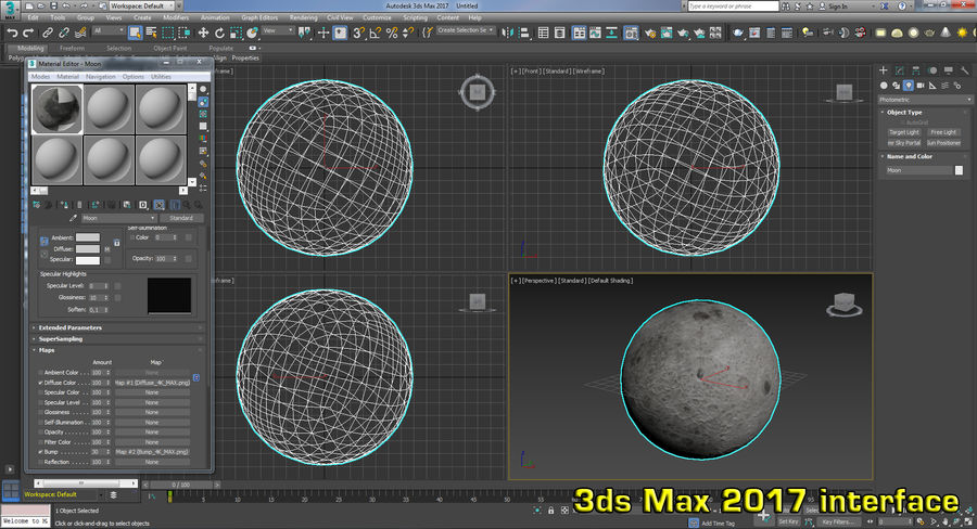 Moon Photorealistic 8K royalty-free 3d model - Preview no. 17