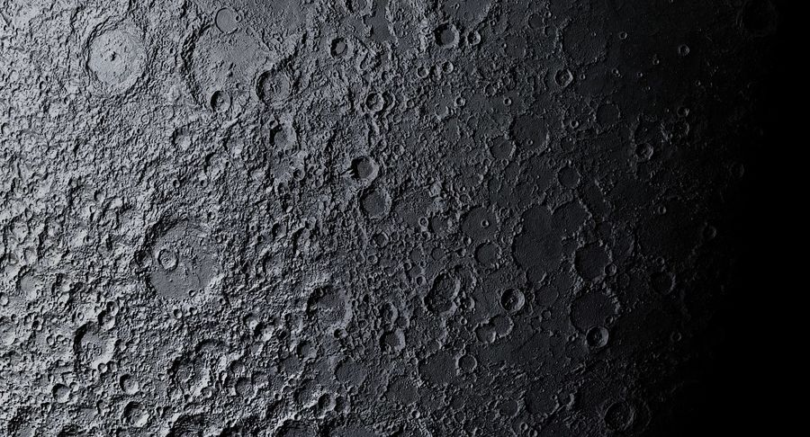 Moon Photorealistic 8K royalty-free 3d model - Preview no. 11