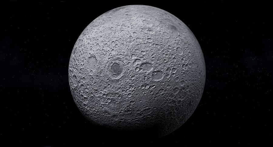 Moon Photorealistic 8K royalty-free 3d model - Preview no. 4