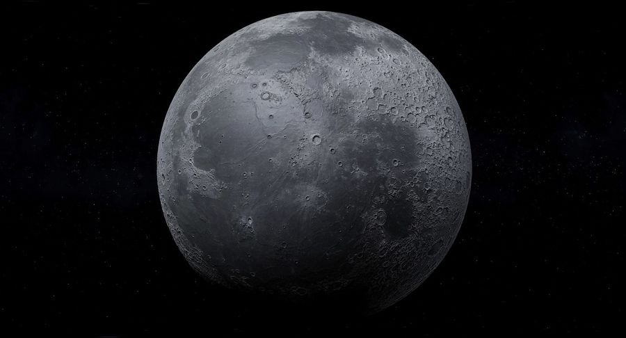 Moon Photorealistic 8K royalty-free 3d model - Preview no. 3