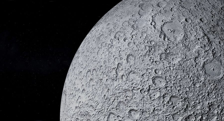 Moon Photorealistic 8K royalty-free 3d model - Preview no. 8