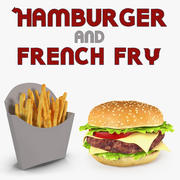 Modele 3D Hamburger i French Fry 3d model