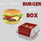Big Mac Burger and Box 3D Models 3d model