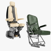 Airplane Pilot Chair Collection 01 3d model